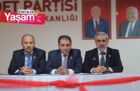 Saadet Partisi Esenler Belediye Başkan Adayı Erol Urhan'dan Muharrem Ayı ve seçim çalışmalarında karşılaştıkları zorluklarla ilgili basın açıklaması.